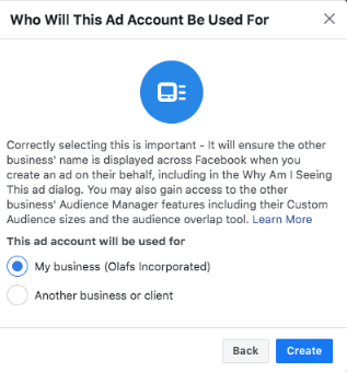 Add your Facebook Ad Account(s)